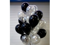 Облако шаров чёрных и серебряных 20 шт. с обработкой.