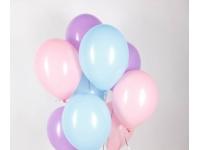 Облако из шаров. Голубые, сиреневые, розовые. 20 шт. 30 см.