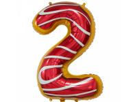 """Шар фольгированный """"Пончик. Цифра 2"""" 86 см. С гелием"""