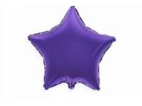 """Шар фольгированный """"Звезда""""(фиолетовый) 48 см. С гелием"""