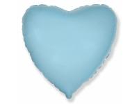 Шар фольгированный сердце голубой. 48 см. С гелием