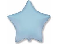 """Шар фольгированный """"Звезда""""(светло-голубой) 48 см. С гелием"""