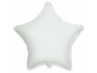 """Шар фольгированный """"Звезда""""(белый) 48 см. С гелием"""