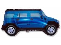 Шар Фольгированный Внедорожник (синий) 84 см. С гелием