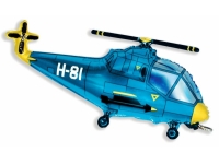 Шар Фольгированный Вертолёт (синий) 97 см. С гелием