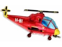 Шар Фольгированный Вертолёт (красный) 97 см. С гелием