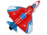 Шар Фольгированный Супер истребитель (красный) 100 см. С гелием