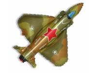 Шар Фольгированный Супер истребитель военный 100 см. С гелием