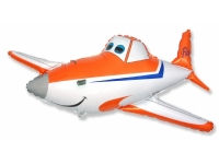 Шар Фольгированный Гоночный самолёт 112 см. С гелием
