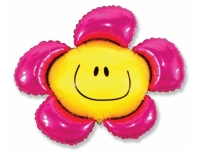 Шар Фольгированный Цветочек (солнечная улыбка) фуксия 104 см. С гелием