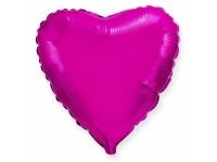 Шар фольгированный сердце фуксия. 48 см. С гелием