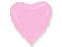 Шар фольгированный сердце светло-розовый. 48 см. С гелием