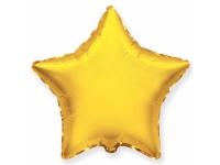 Шар Фольгированнвй Звезда Золото 48 см. С гелием
