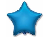 Шар Фольгированный Звезда Синий 48 см. С гелием